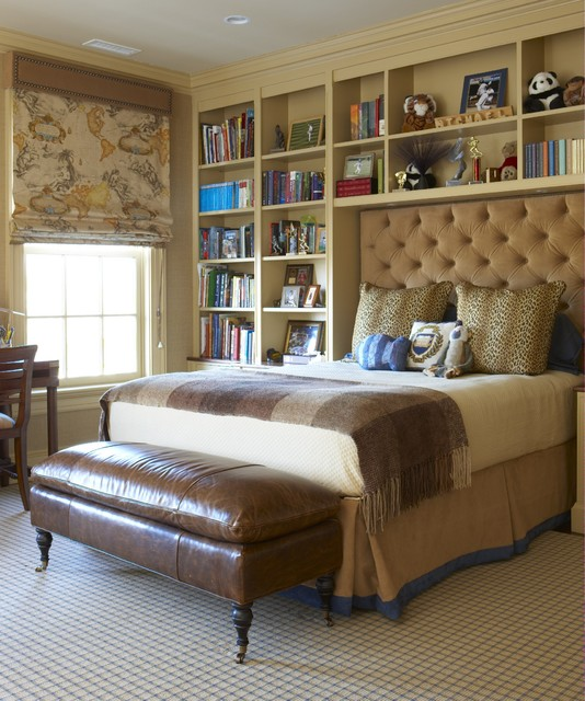 Bookcase Headboard Queen Kids Traditional with Bed Pillows Bedroom Bedskirt Bookcase Bookshelves Built in Shelves