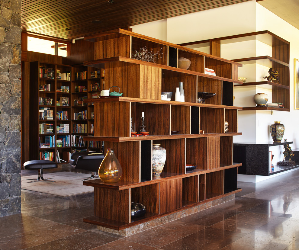 bookcase room dividers Hall Asian with Asian vases bookcase as room divider brown