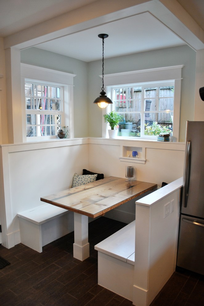 Breakfast Nooks Kitchen Contemporary with Arts and Crafts Banquette Bench Booth Breakfast
