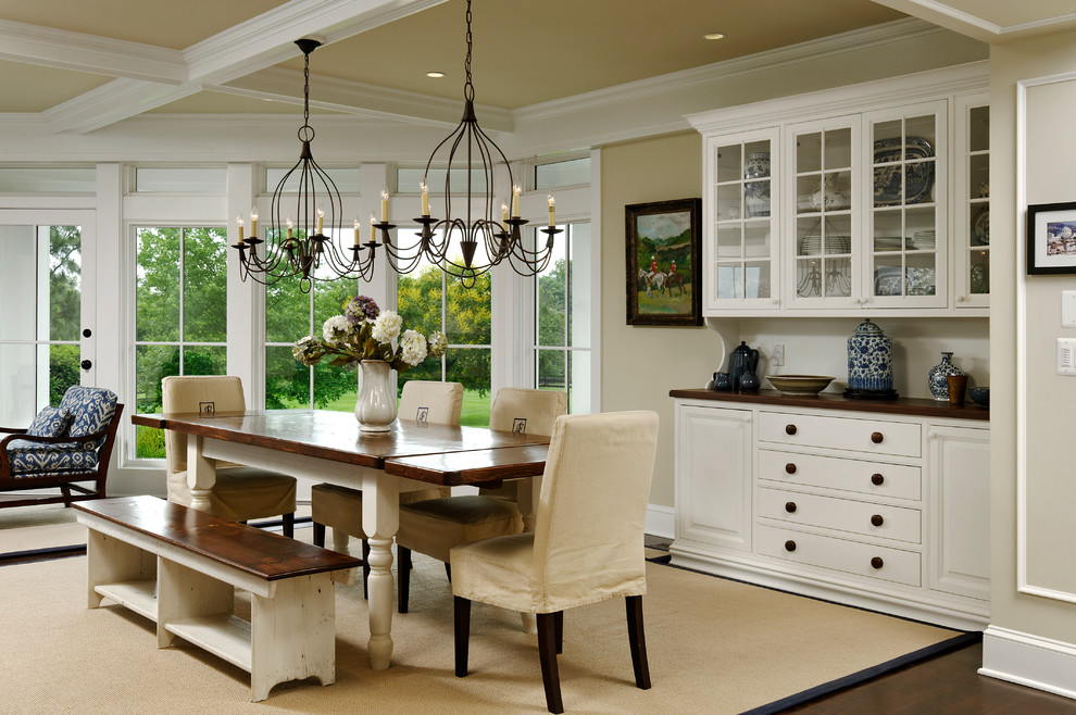 Breakfront Dining Room Traditional with Area Rug Buffets and Sideboards Chandeliers Dining
