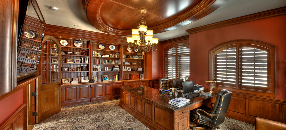 Breakfront Spaces Traditional with Blinds Custom Shutters Interior Shutters Plantaion Shutters