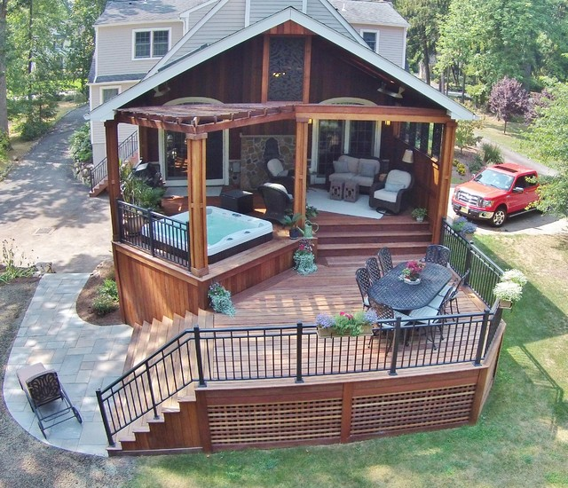 Bromic Heaters Deck Contemporary with Bromic Heaters Ceiling Fans Covered Structure Custom Aluminum Rails