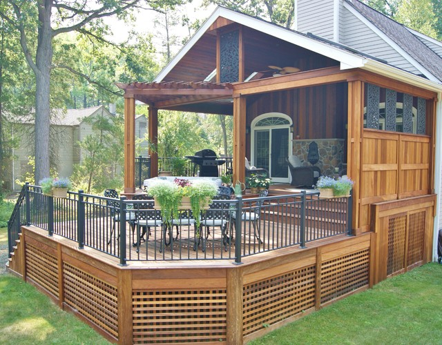 Bromic Heaters Porch Contemporary with Bromic Heaters Ceiling Fans Covered Structure Custom Aluminum Rails
