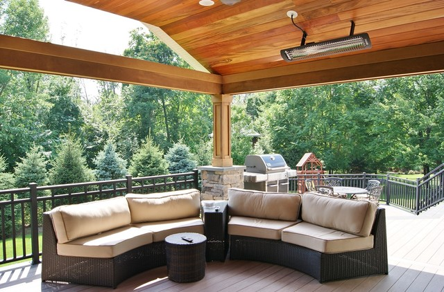 Bromic Heaters Porch Contemporary with Aluminumn Rails Bromic Heaters Covered Structure Custom Rails Deck1