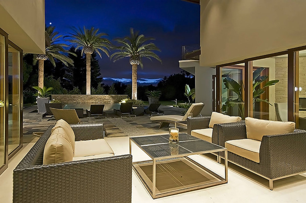 Broyhill Outdoor Furniture Patio Contemporary with Atrium Garden Lighting Neutral Colors Outdoor Couch