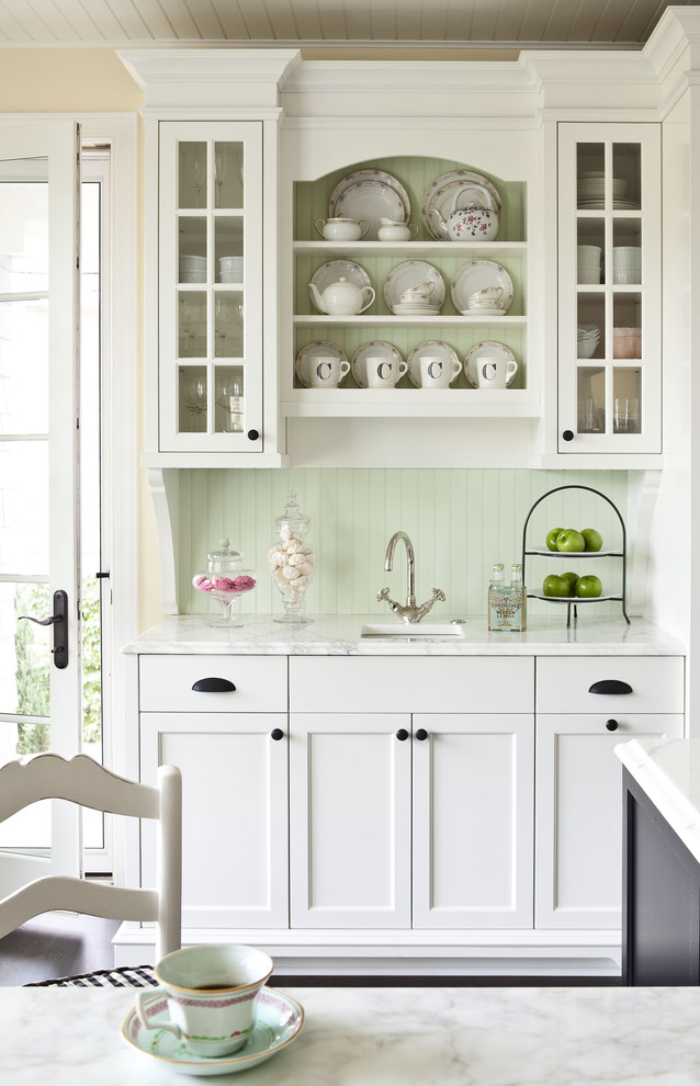 Brushed Nickel Cabinet Knobs Kitchen Traditional with Accent Architecture Bead Board Ceiling Beadboard Benjamin
