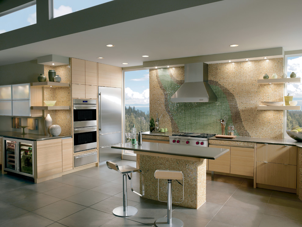 Bullnose Tile Kitchen Modern with Categorykitchenstylemodernlocationunited States