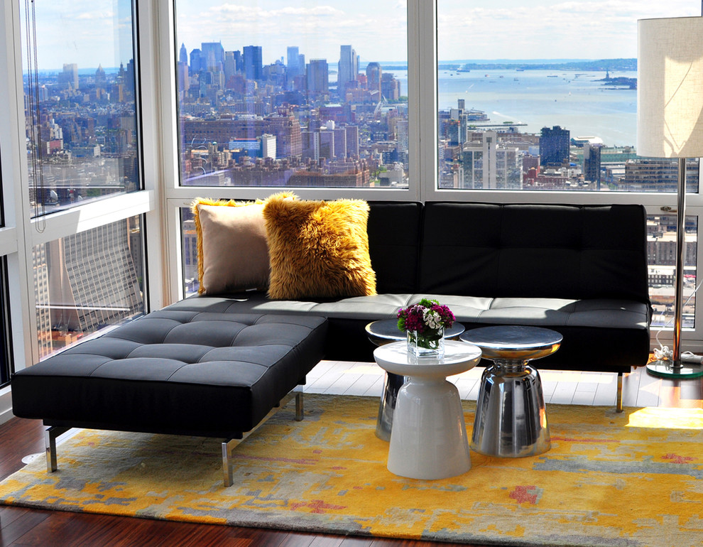 Bunching Tables Living Room Contemporary with Area Rug Chaise Lounge Corner Sofa Corner
