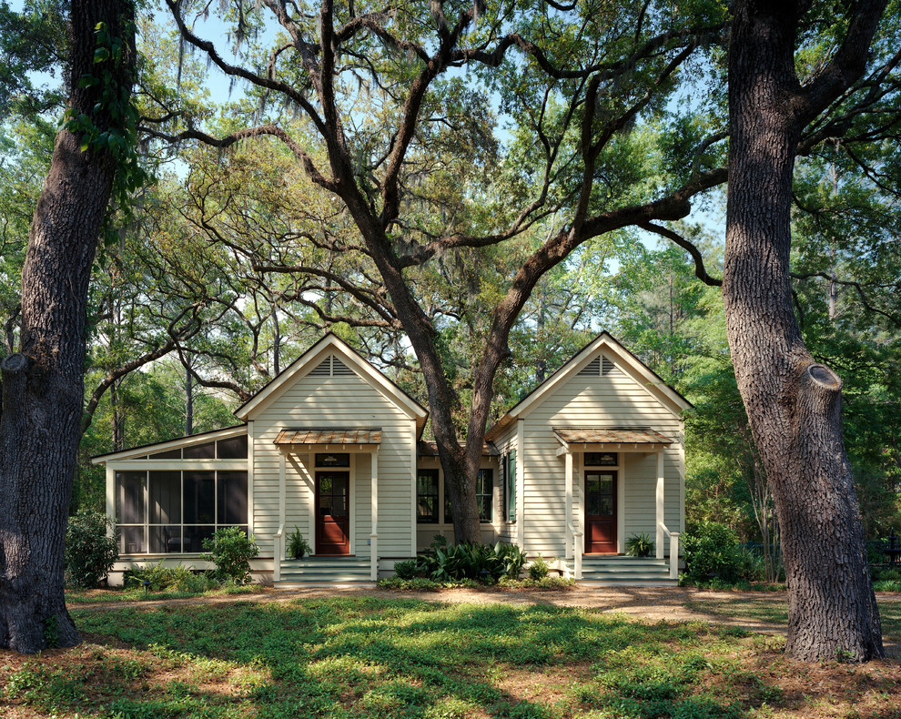 Bunkie Boards Exterior Traditional with Awning Board and Batten Shutters Caribbean Gable