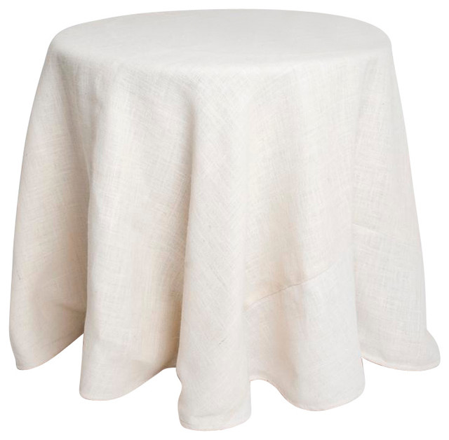 burlap tablecloth with and burlap decor decorations dine Entertaining ivory linens party