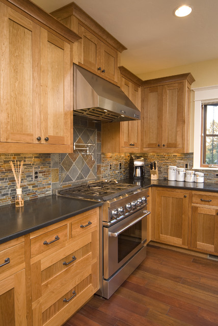Cabinet Depth Refrigerator Kitchen Traditional with Black Countertops Butter Frame and Panel Pot Filler Stainless