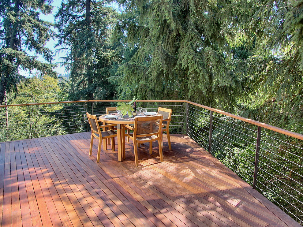 Cable Railing Kit Deck Contemporary with Cantilever Deck Handrail Neutral Colors Outdoor Dining