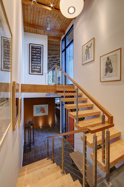 Cable Railing Systems Staircase Contemporary with Beam Beige Wall Cable Railing Cable Stair Railing Ceiling