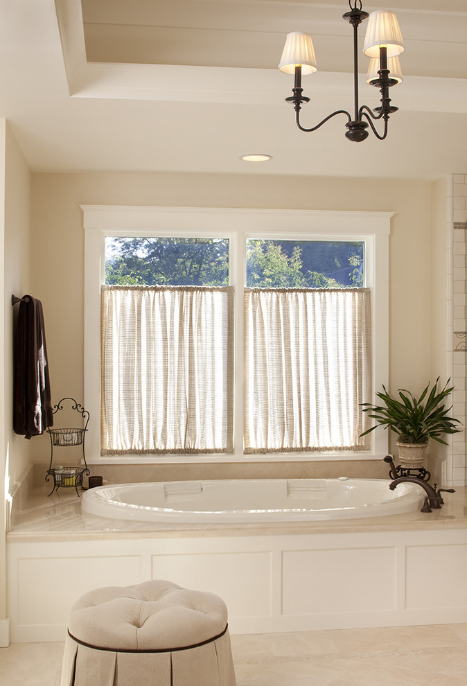 Cafe Curtain Rods Bathroom Traditional with Bathroom Lighting Ceiling Lighting Chandelier Curtains Deck