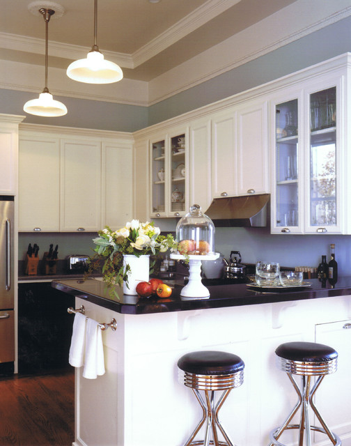 Cake Plate with Dome Kitchen Eclectic with Bar Bar Stools Bin Pulls Black Breakfast Bar Cabinetry