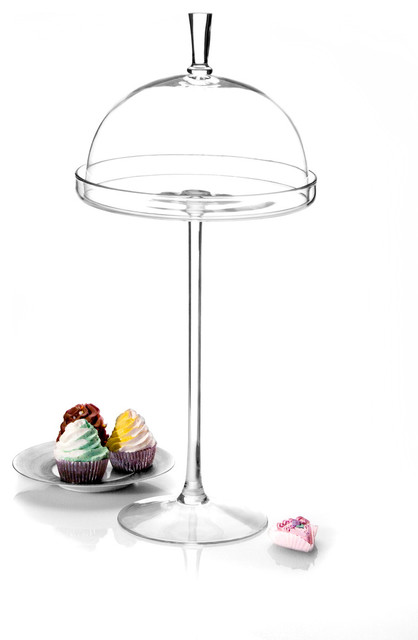 Cake Stand with Dome with Godinger Silver