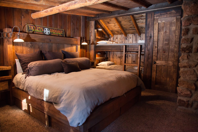 Cal King Bedroom Sets Bedroom Rustic with Bathroom Remodel Built in Cabinetry Built in Storage Bunk Beds Chinking