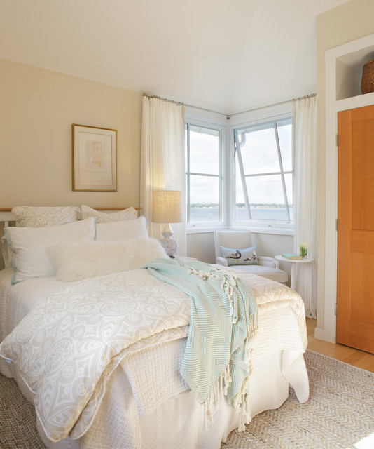 cal king duvet cover Bedroom Shabby-chic with bedroom window treatments beige bedding beige wall blue throw