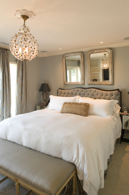 Cal King Duvet Cover Bedroom Traditional with Antique Silver Bench Seat Carpeting Ceiling Medallion Chandelier Curtain