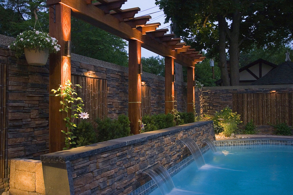 Cali Bamboo Reviews Pool Asian with Bamboo Garden Wall Bellaire Landscape Awarding Winner1
