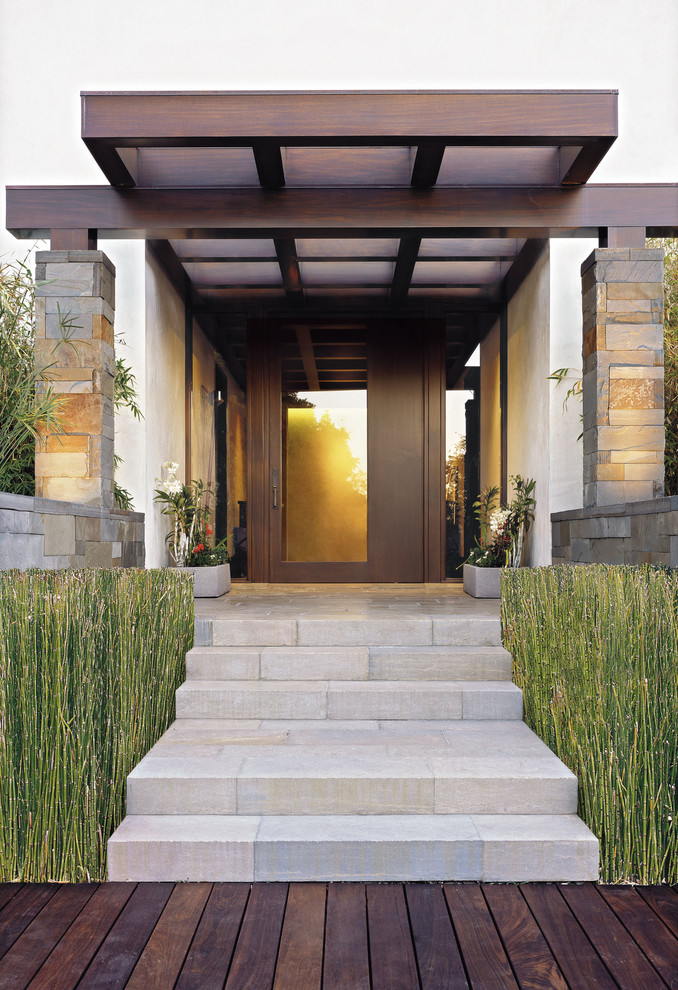 Cali Bamboo Reviews Porch Contemporary with Asian Clean Lines Contemporary Door Dark Wood1