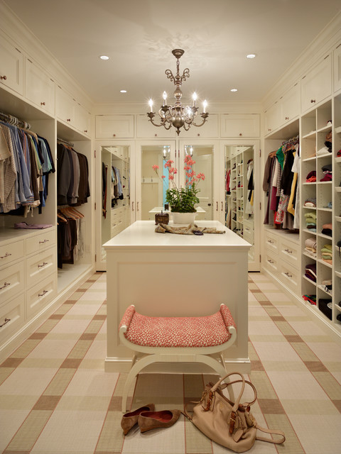 California Closets Nyc Closet Traditional with Beige Cabinets Beige Drawers Beige Plaid Carpet Built in Shelves