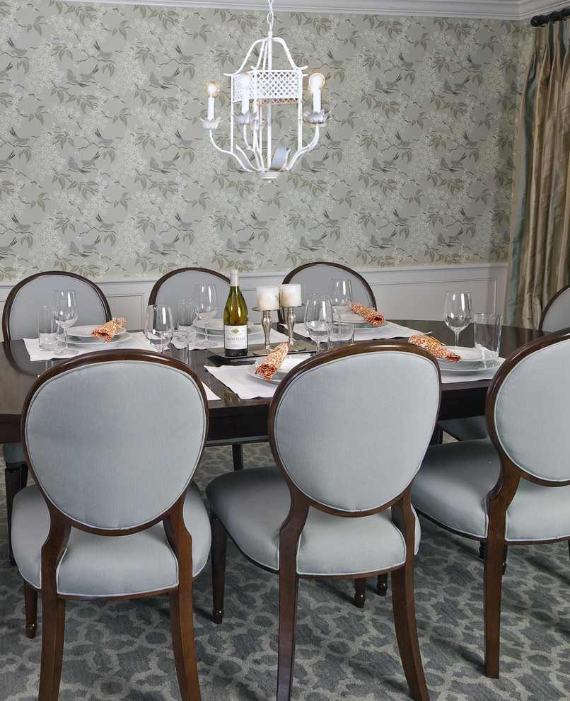 Capel Rugs Dining Room Traditional with Carpeting Chandelier Crown Molding Dark Stained Wood