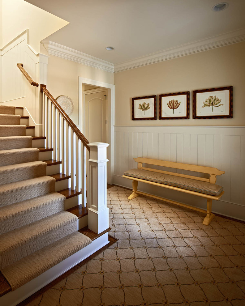 how to cut a stair runner for corner steps