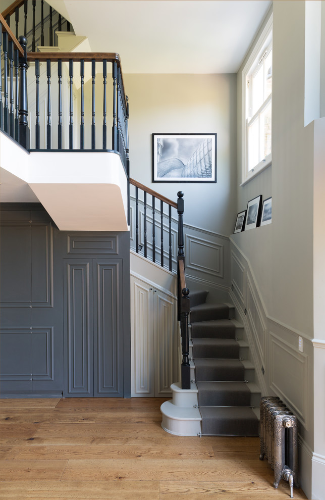 Carpet Runners For Stairs Staircase Victorian With Banister Dark Gray Hall  Hallway Oyster White