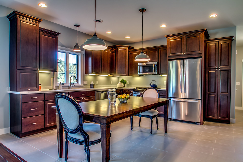 Carrara Marble Countertop Kitchen Traditional with Categorykitchenstyletraditionallocationellicottville New York United States