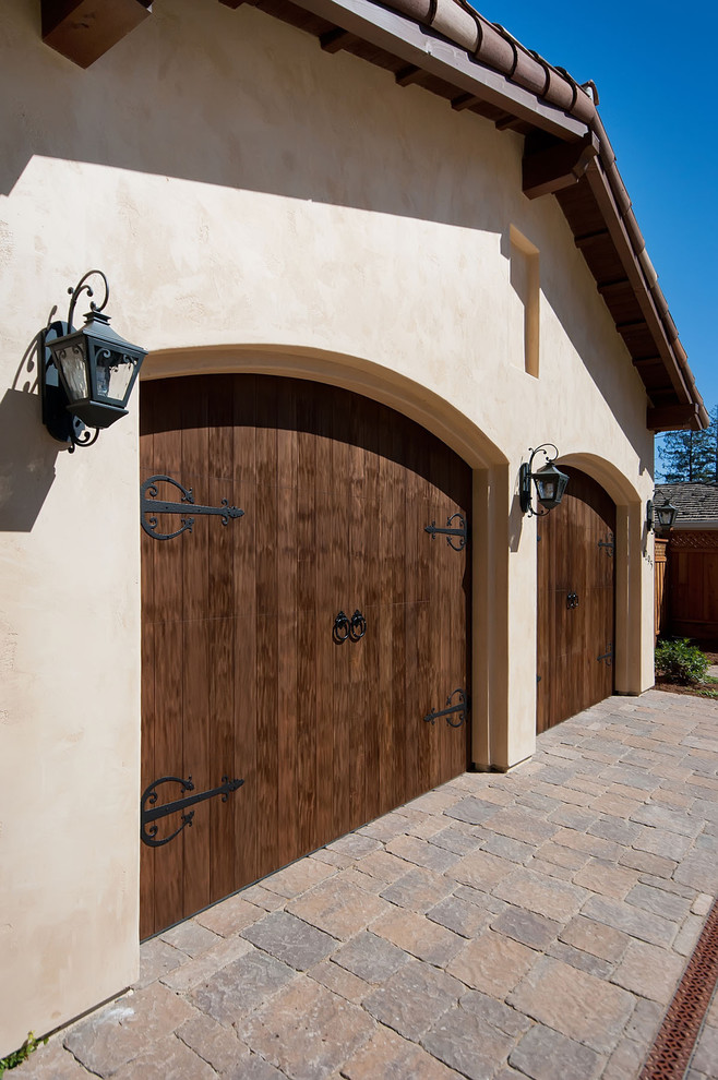 Carriage Door Hardware Garage And Shed Mediterranean With Arched Doorways  Barn Hinges Carriage Doors Double