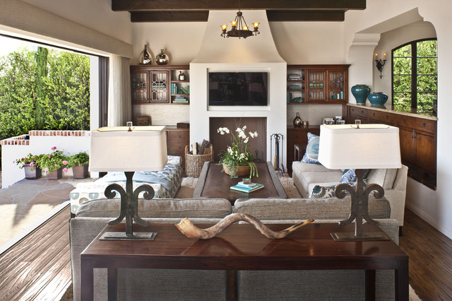 Carsons Furniture Outlet Family Room Mediterranean With Bookshelves