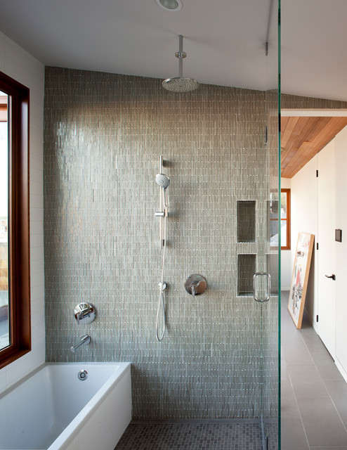Cast Iron Shower Pan Bathroom Contemporary with Architectural Windows Ceiling Mount Shower Contemporary Windows Custom Wood