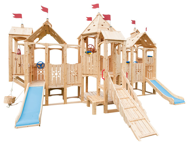 Cedar Playsets with Backyard Swing Set Jungle Gym Outdoor Play Structure Outdoor6