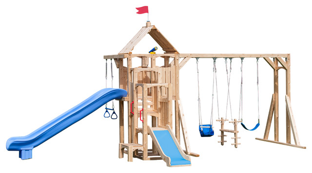 Cedar Playsets with Backyard Swing Set Jungle Gym Outdoor Play Structure Outdoor7