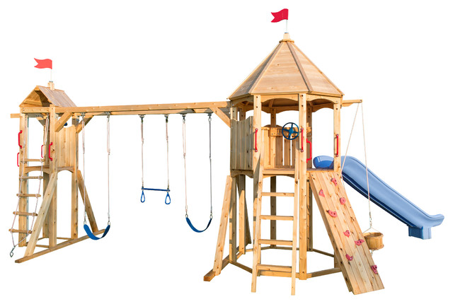 Cedar Playsets with Backyard Swing Set Jungle Gym Outdoor Play Structure Outdoor8