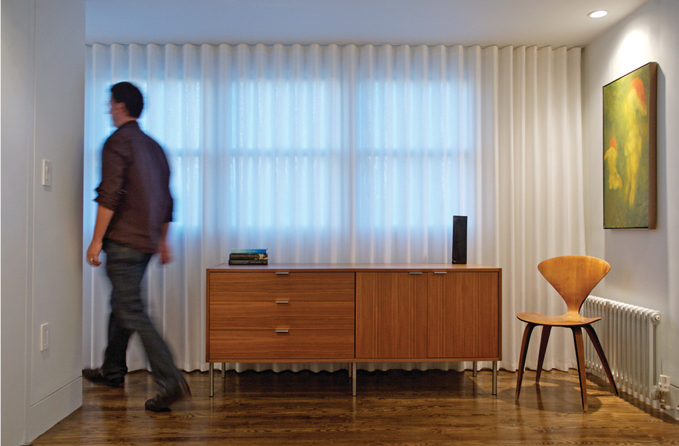 Ceiling Curtain Track Hall Midcentury With Credenza Curtains
