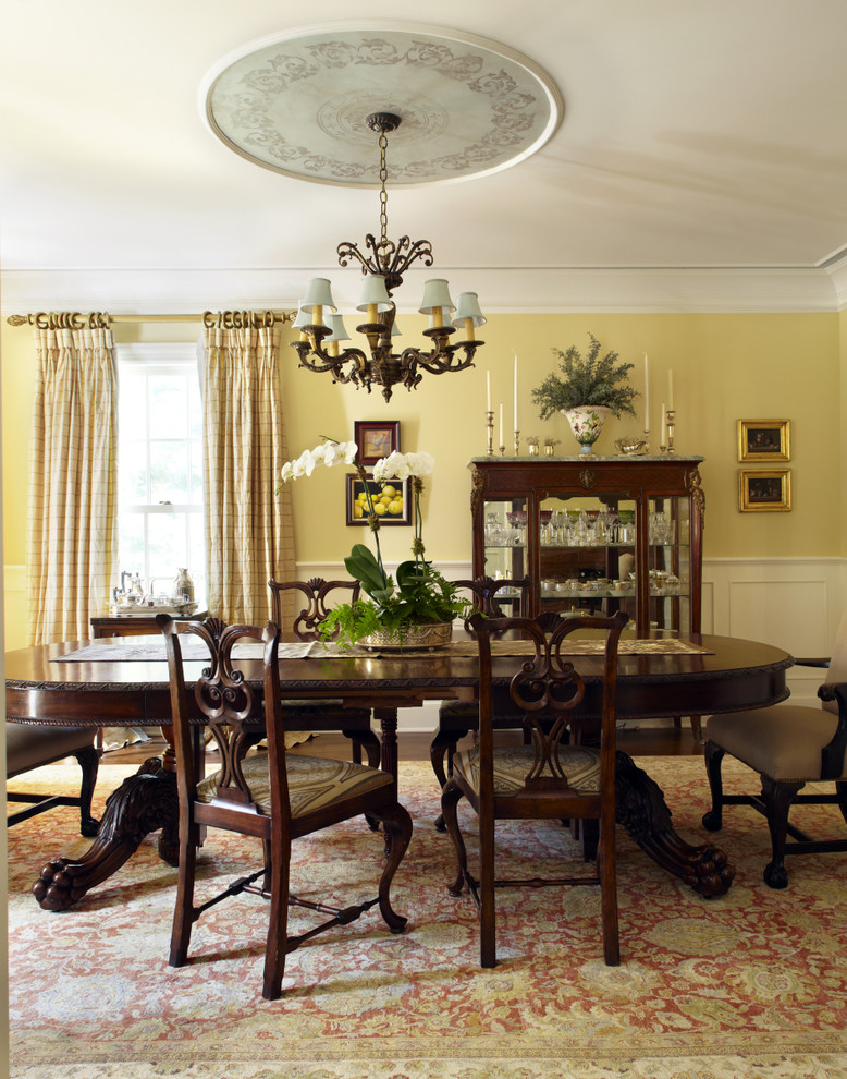 Ceiling Medallion Dining Room Traditional with Artwork Ceiling Medallion Centerpiece Chandelier Chandelier Shades