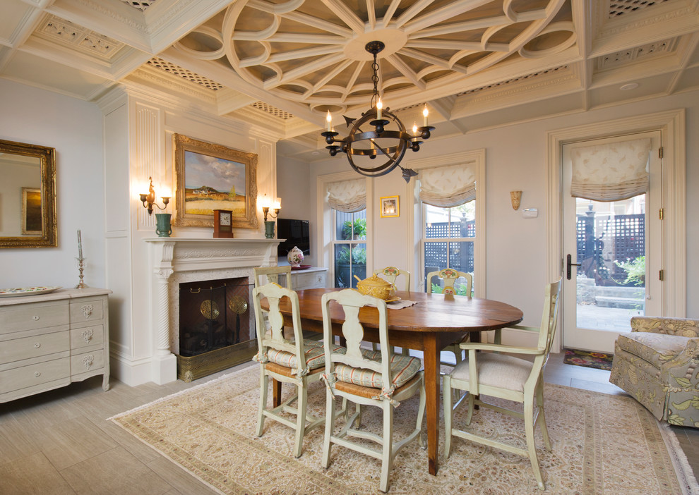 Ceiling Medallions Dining Room Traditional with Antique Armillary Sphere Armillary Sphere Chandelier Beige