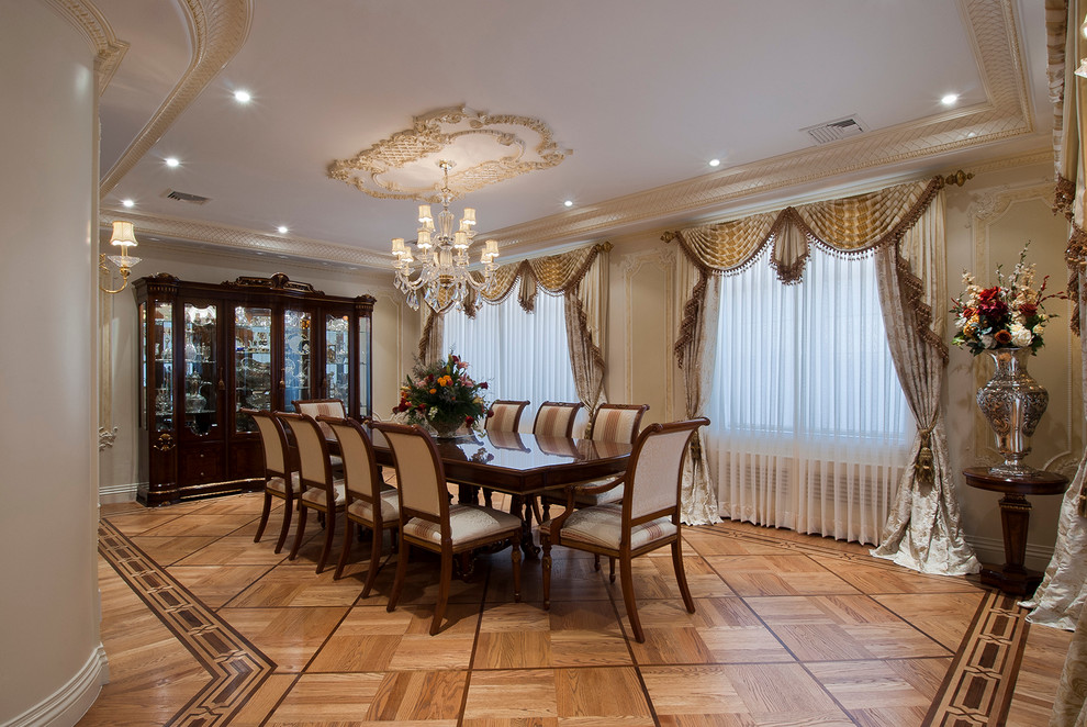 Ceiling Medallions Dining Room Traditional with Beige Dining Chair Beige Wall Ceiling Medallion