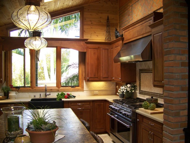 Ceiling Vent Covers Kitchen Traditional with Apron Sink Brick Wall Container Plants Farmhouse Sink Granite
