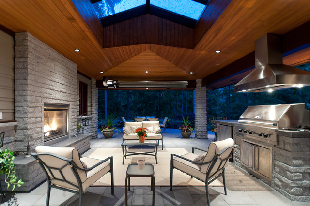 Ceiling Vent Covers Patio Contemporary with Bbq Covered Grill Covered Patio Fireplace Hearth Outdoor Dining
