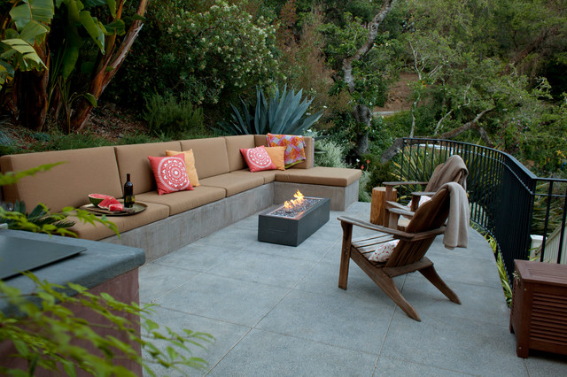 Cement Benches Patio Contemporary With Adirondack Chair Adirondack Chairs  Brown Outdoor Cushions Built In Outdoor
