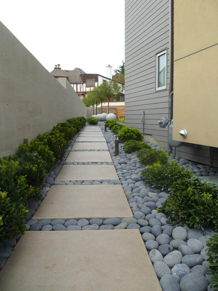 Cement Pavers Landscape Contemporary with Cement Pavers Cement Wall Fence Garden Hardscaping1