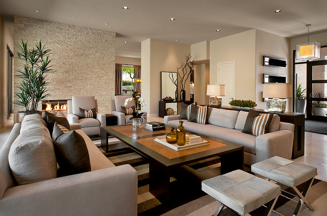 Chair and a Half Recliner Living Room Contemporary with Accent Wall Animal Hide Ceiling Lighting Coffee Table Entrance