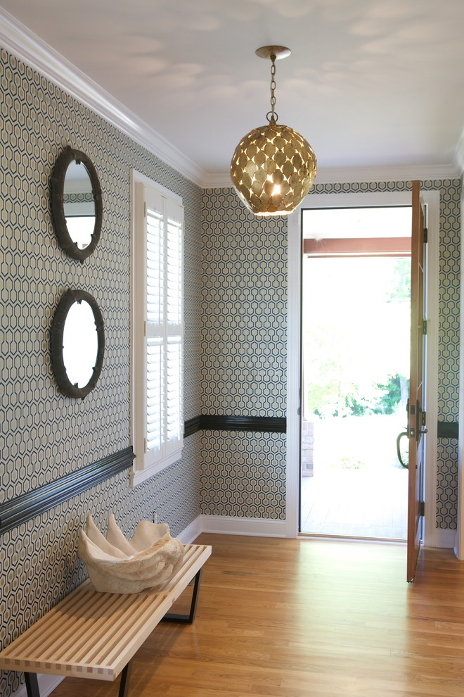 Chair Rail Molding Entry Contemporary with Baseboards Bold Graphic Chairs Rail Crown Molding