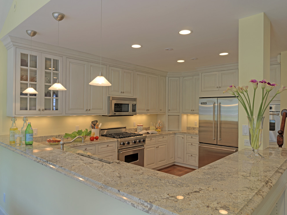 Cheap Granite Countertops Kitchen Traditional with Ceiling Lighting Corner Cabinets Crown Molding Door