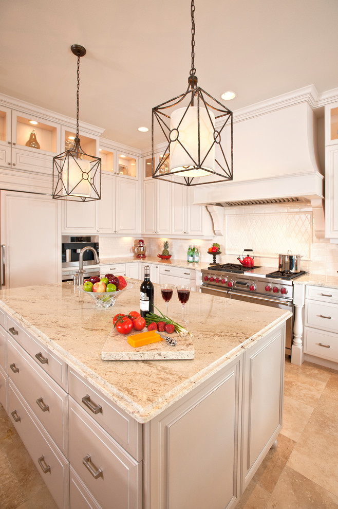 Cheap Granite Countertops Kitchen Traditional with Ceiling Lighting Crown Molding Floor Tile Kitchen