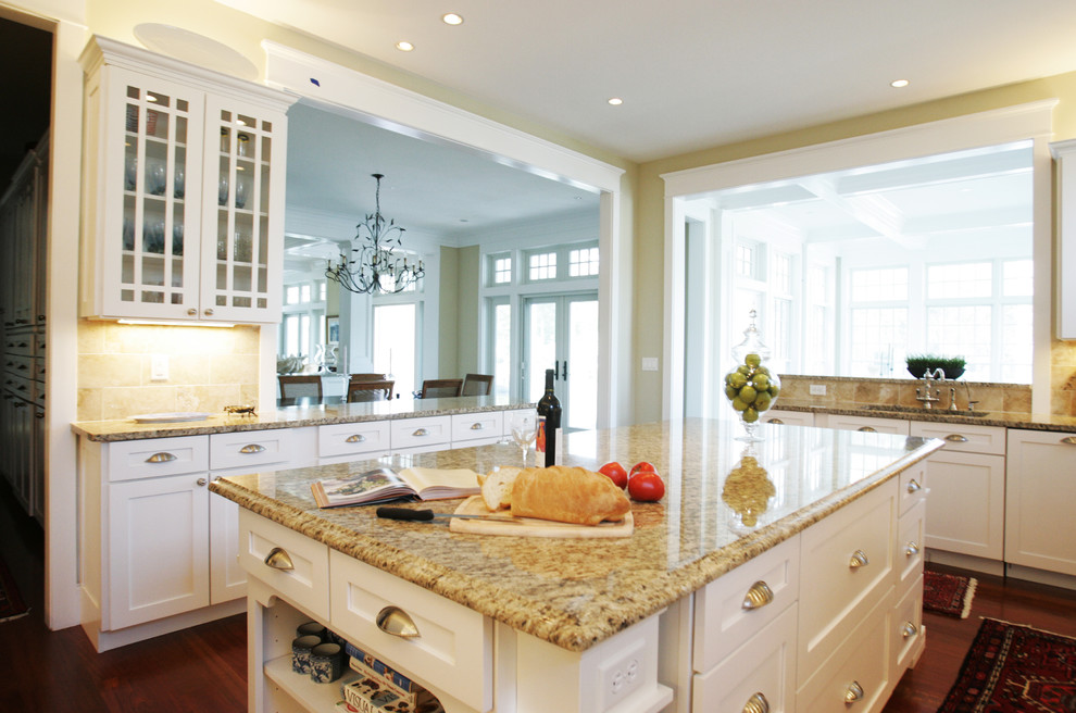 Cheap Granite Countertops Kitchen Traditional with Ceiling Lighting Glass Front Cabinets Granite Countertops
