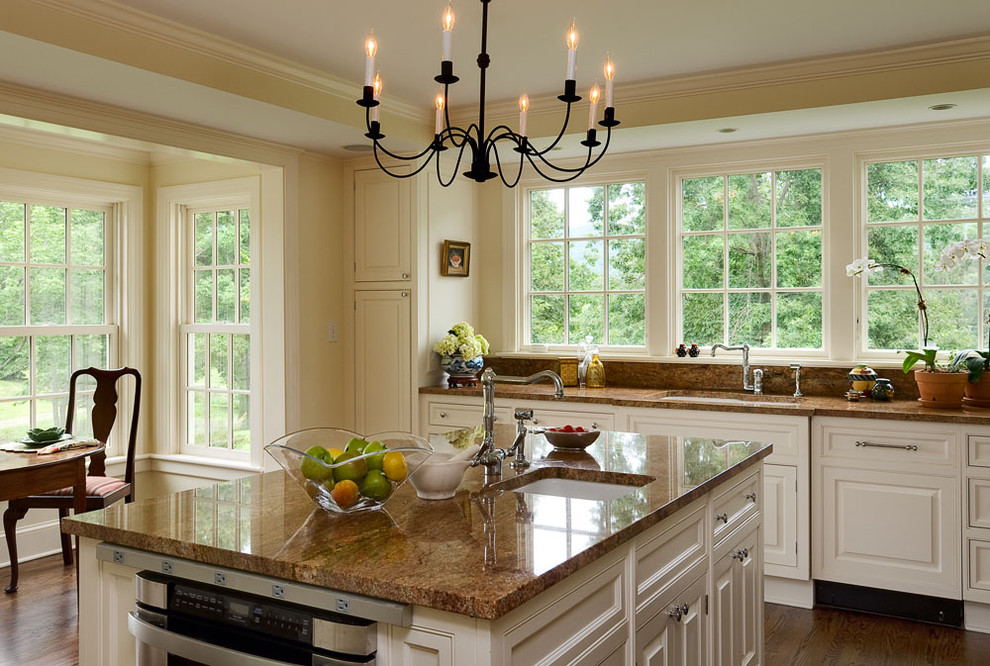 Cheap Granite Countertops Kitchen Traditional with Country Home Crown Moldings Farmhouse Granite Countertop